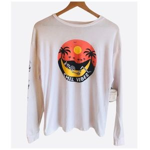 French Pastry Chill Vibes Graphic Shirt White XS